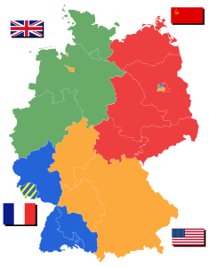Mapa powojennych Niemiec