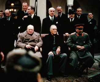 World Leaders at the Yalta Conference, 1945
